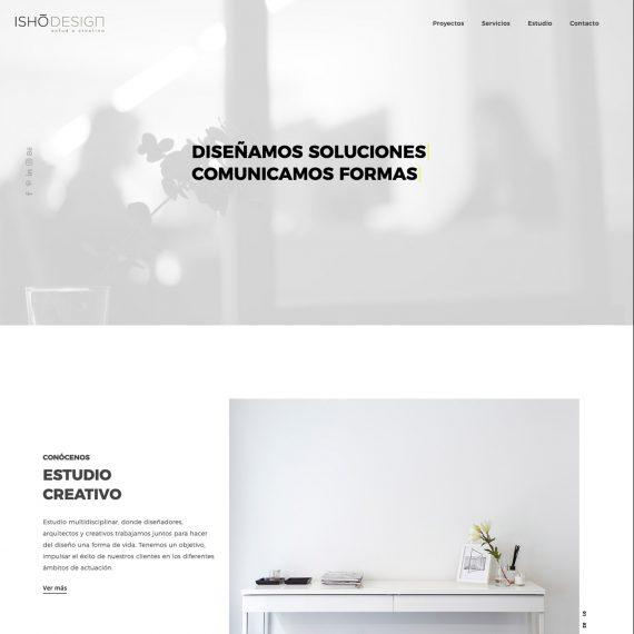 Diseño y desarrollo web para Isho Design 4